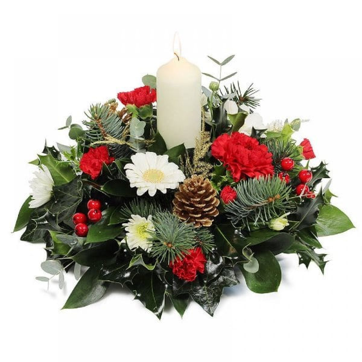 Christmas flowers-Christmas Wishes Centerpiece